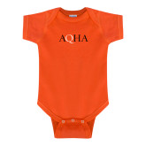 Orange Infant Onesie-AQHA