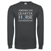 Charcoal Long Sleeve T Shirt-American Quarter Horse Foundation