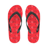 Ladies Full Color Flip Flops-AQHA