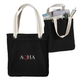 Allie Black Canvas Tote-AQHA