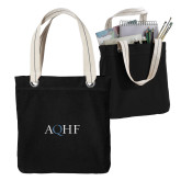 Allie Black Canvas Tote-AQHF