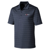 C&B Interbay Navy Stripe Polo-AQHA
