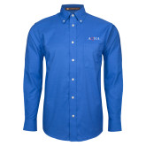 Mens Royal Oxford Long Sleeve Shirt-AQHA