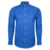 Mens Royal Oxford Long Sleeve Shirt-AQHF
