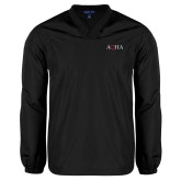 V Neck Black Raglan Windshirt-AQHA