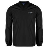 V Neck Black Raglan Windshirt-AQHF