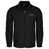 Full Zip Black Wind Jacket-AQHA