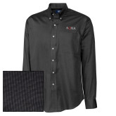 Cutter & Buck Black Nailshead Long Sleeve Shirt-AQHA