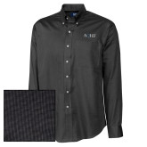 Cutter & Buck Black Nailshead Long Sleeve Shirt-AQHF