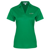 Ladies Kelly Green Performance Fine Jacquard Polo-AQHA