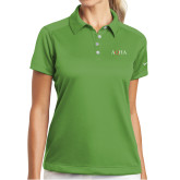 Ladies Nike Dri Fit Vibrant Green Pebble Texture Sport Shirt-AQHA