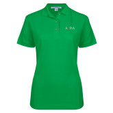 Ladies Easycare Kelly Green Pique Polo-AQHA