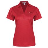 Ladies Red Performance Fine Jacquard Polo-AQHA