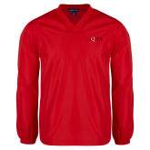 V Neck Red Raglan Windshirt-AQHA