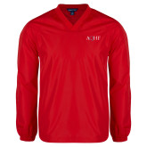 V Neck Red Raglan Windshirt-AQHF