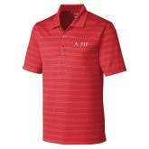 C&B Interbay Cardinal Red Stripe Polo-AQHF