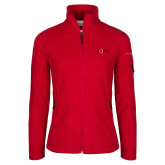 Columbia Ladies Full Zip Red Fleece Jacket-AQHA