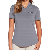Ladies Callaway Horizontal Textured Steel Grey Polo-AQHA