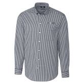 Cutter & Buck Charcoal Stretch Gingham Long Sleeve Shirt-AQHA