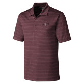 C&B Interbay Maroon Stripe Polo-AQHA