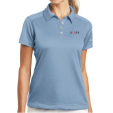 Ladies Nike Dri Fit Light Blue Pebble Texture Sport Shirt-AQHA