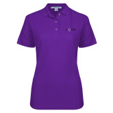 Ladies Easycare Purple Pique Polo-AQHA
