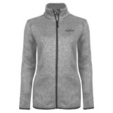 Grey Heather Ladies Fleece Jacket-AQHA