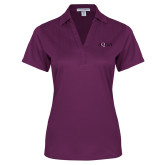Ladies Purple Performance Fine Jacquard Polo-AQHA