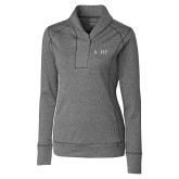 Ladies Cutter & Buck Shoreline Charcoal 1/2 Zip-AQHF