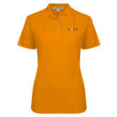 Ladies Easycare Orange Pique Polo-AQHA