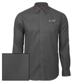 Red House Dark Charcoal Diamond Dobby Long Sleeve Shirt-AQHF