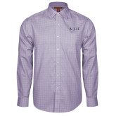 Red House Purple Plaid Long Sleeve Shirt-AQHF