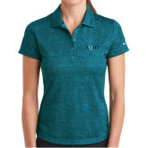 Ladies Nike Dri Fit Teal Crosshatch Polo-AQHF