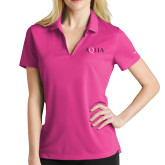 Ladies Nike Golf Dri Fit Fuchsia Micro Pique Polo-AQHA