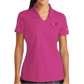 Ladies Nike Golf Dri Fit Fuchsia Micro Pique Polo-AQHF