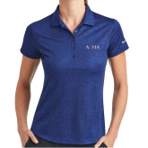 Ladies Nike Dri Fit Royal Crosshatch Polo-AQHA
