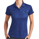 Ladies Nike Dri Fit Royal Crosshatch Polo-AQHF