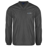 V Neck Charcoal Raglan Windshirt-AQHF