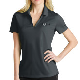 Ladies Nike Golf Dri Fit Charcoal Micro Pique Polo-AQHA