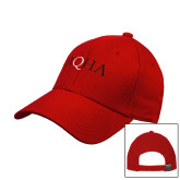 Red Heavyweight Twill Pro Style Hat-AQHA