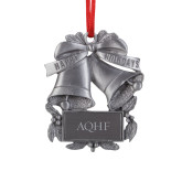 Pewter Holiday Bells Ornament-AQHF Engraved