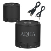 Wireless HD Bluetooth Black Round Speaker-AQHA Engraved