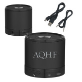 Wireless HD Bluetooth Black Round Speaker-AQHF Engraved