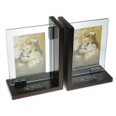 Glass Frame Bookends-AQHA Engraved