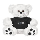 Plush Big Paw 8 1/2 inch White Bear w/Black Shirt-AQHF