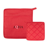 Quilted Canvas Red Pot Holder-AQHA