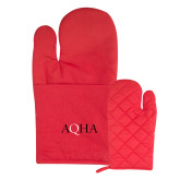 Quilted Canvas Red Oven Mitt-AQHA