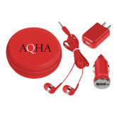 3 in 1 Red Audio Travel Kit-AQHA