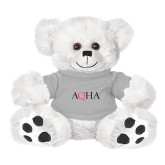 Plush Big Paw 8 1/2 inch White Bear w/Grey Shirt-AQHA