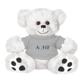 Plush Big Paw 8 1/2 inch White Bear w/Grey Shirt-AQHF